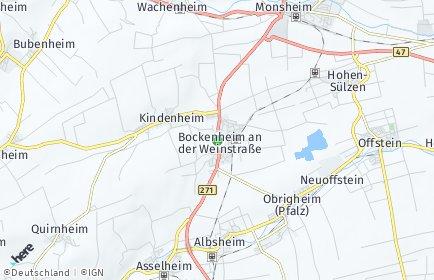 Stadtplan Bockenheim an der Weinstraße