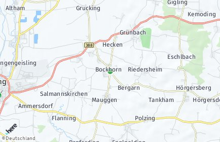 Stadtplan Bockhorn (Oberbayern)
