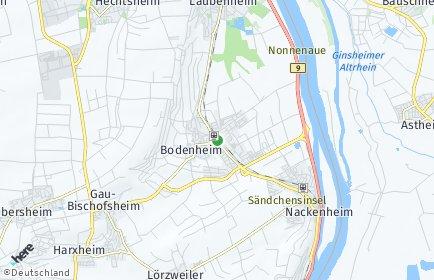 Stadtplan Bodenheim