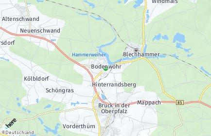 Stadtplan Bodenwöhr