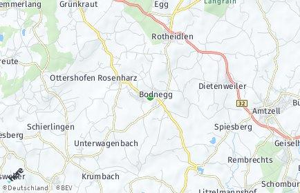 Stadtplan Bodnegg