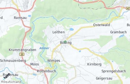 Stadtplan Böbing