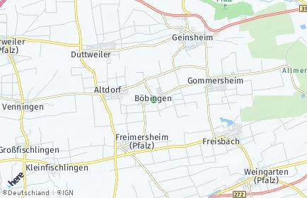 Stadtplan Böbingen (Pfalz)