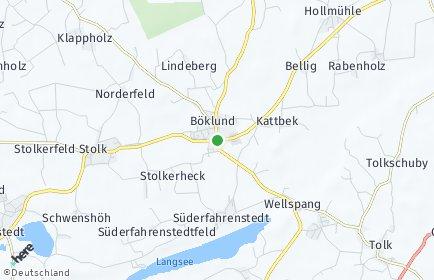 Stadtplan Böklund