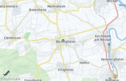Stadtplan Bönnigheim