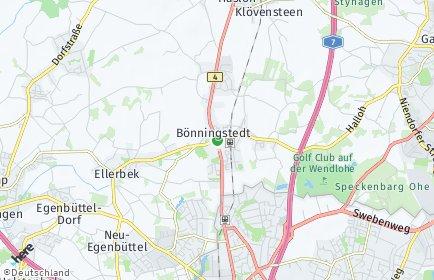 Stadtplan Bönningstedt