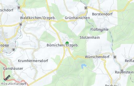 Stadtplan Börnichen/Erzgebirge