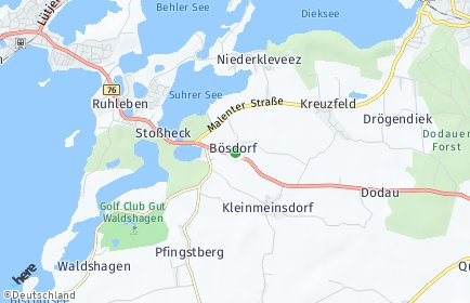 Stadtplan Bösdorf (Holstein) OT Bösdorf