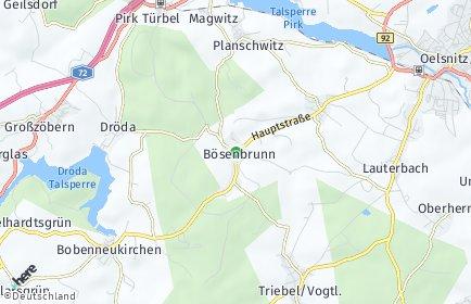 Stadtplan Bösenbrunn