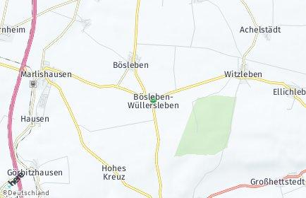 Stadtplan Bösleben-Wüllersleben