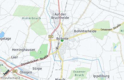 Stadtplan Bohmte