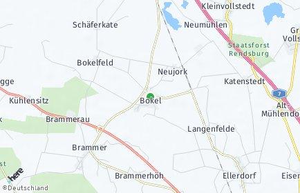 Stadtplan Bokel bei Rendsburg