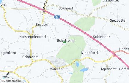 Stadtplan Bokelrehm