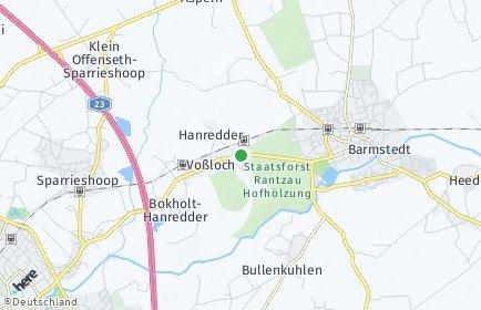 Stadtplan Bokholt-Hanredder
