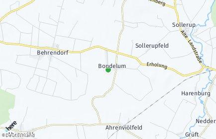 Stadtplan Bondelum