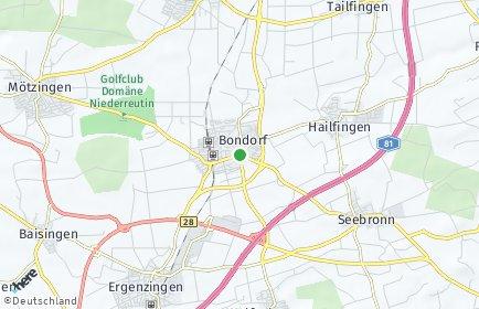 Stadtplan Bondorf