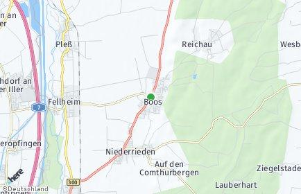 Stadtplan Boos (Schwaben)