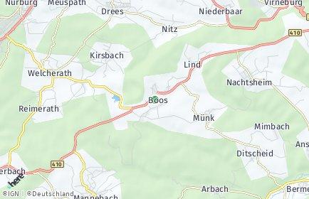 Stadtplan Boos (Eifel)
