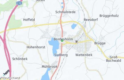 Stadtplan Bordesholm