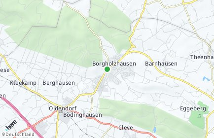 Stadtplan Borgholzhausen