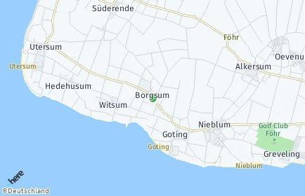Stadtplan Borgsum