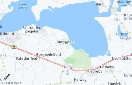 Stadtplan Borgwedel