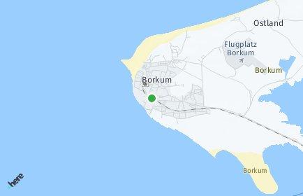 Stadtplan Borkum
