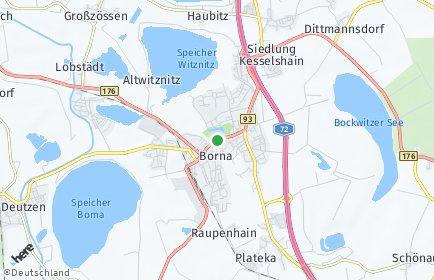 Stadtplan Borna
