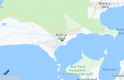 Stadtplan Born auf dem Darß
