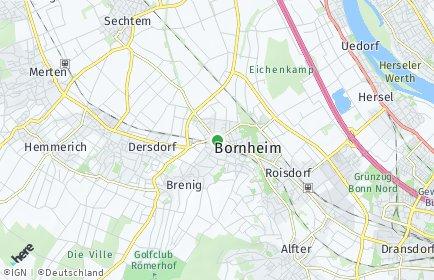 Stadtplan Bornheim (Rheinland) OT Kardorf