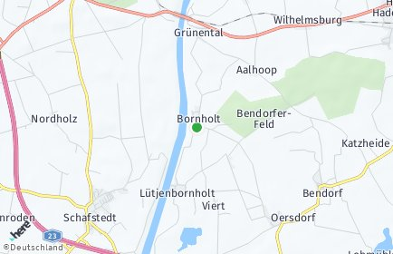Stadtplan Bornholt