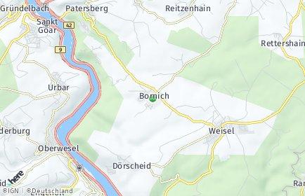 Stadtplan Bornich