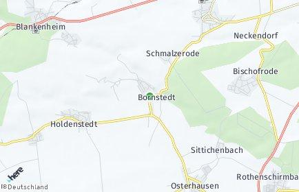 Stadtplan Bornstedt bei Eisleben