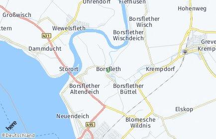 Stadtplan Borsfleth