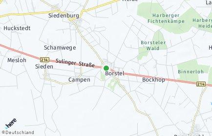 Stadtplan Borstel (Kreis Diepholz)