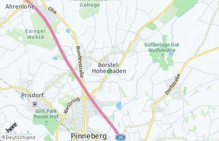 Stadtplan Borstel-Hohenraden
