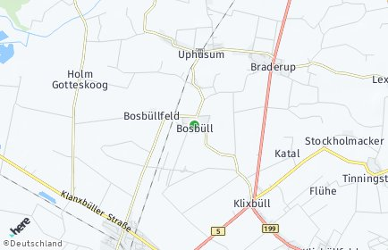 Stadtplan Bosbüll