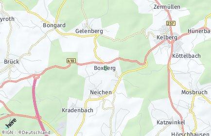 Stadtplan Boxberg (Eifel)