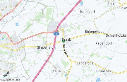 Stadtplan Braak
