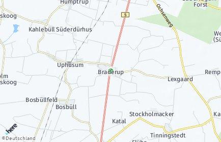Stadtplan Braderup