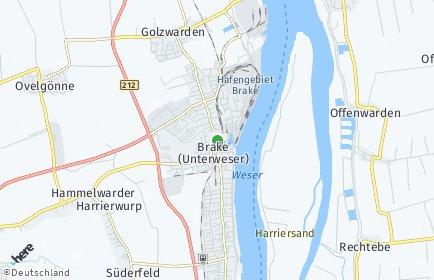 Stadtplan Brake (Unterweser)