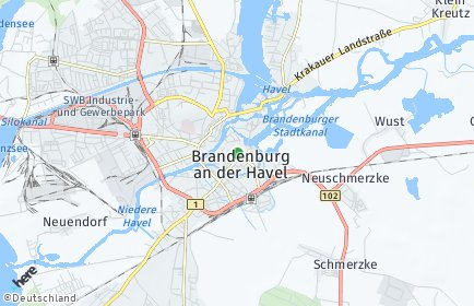 Stadtplan Brandenburg an der Havel OT Plaue