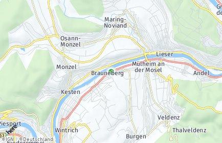 Stadtplan Brauneberg OT Filzen