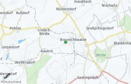 Stadtplan Braunichswalde