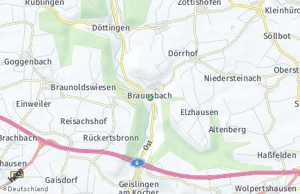 Stadtplan Braunsbach