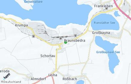 Stadtplan Braunsbedra