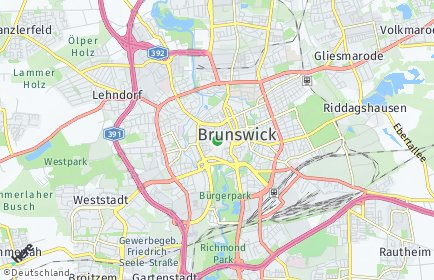 Stadtplan Braunschweig OT Lehndorf