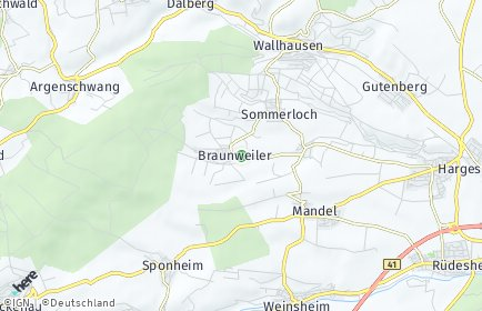 Stadtplan Braunweiler