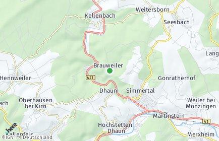 Stadtplan Brauweiler bei Kirn