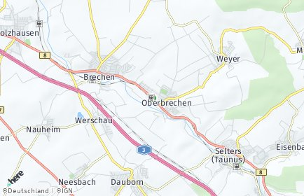 Stadtplan Brechen